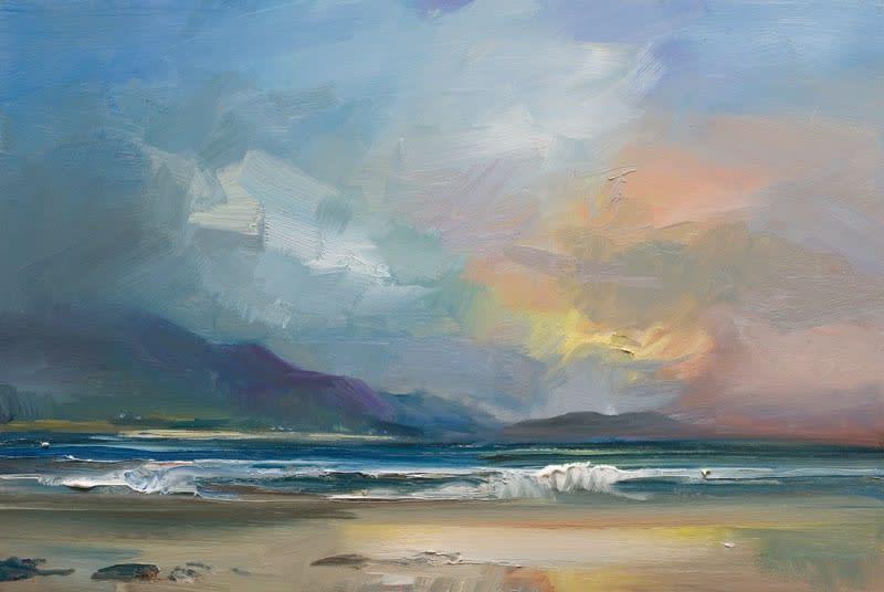 Evening , Kilshannig Beach, Co. Kerry II oil on board 61 x 92 cm