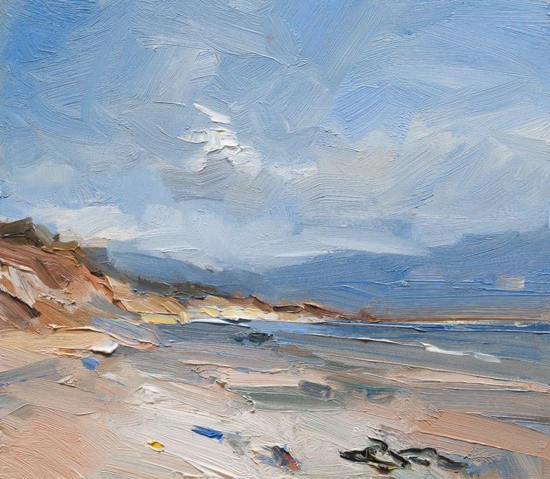 Spring Morning, Kilshannig Beach, Co. Kerry oil on board 35 x 40 cm