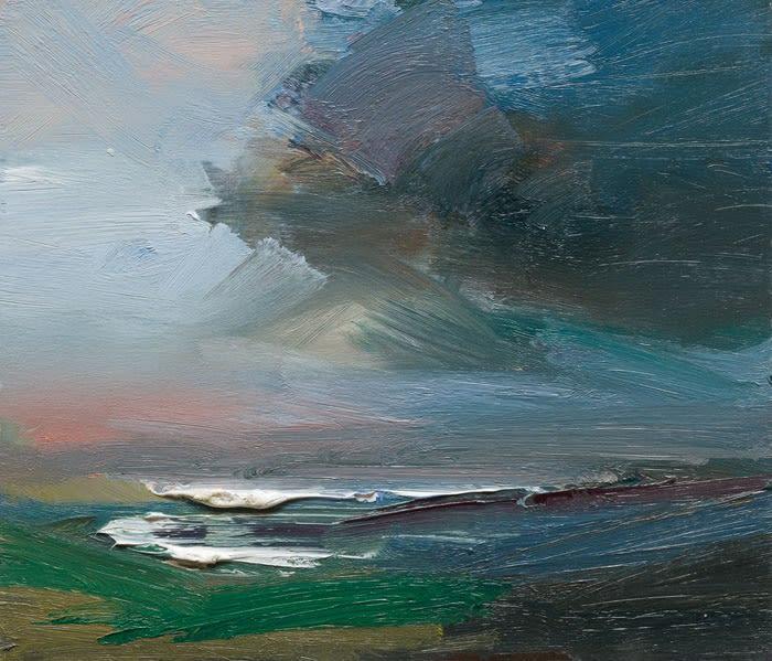 The Atlantic Ocean on the West Coast of Ireland oil on board 30 x 35 cm