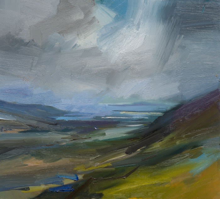 The View from Connor Pass I oil on board 46 x 50 cm