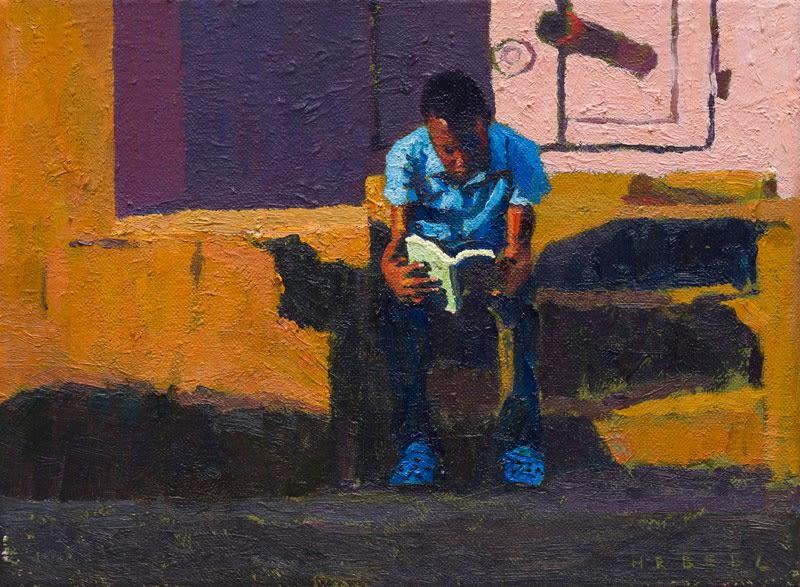 Vonnegut in Lusaka oil on canvas 18 x 24 cm