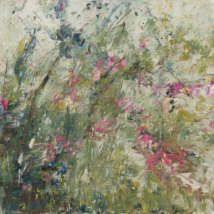 Summer Hedgerow (Foxgloves) oil on canvas 100 x 100 cm