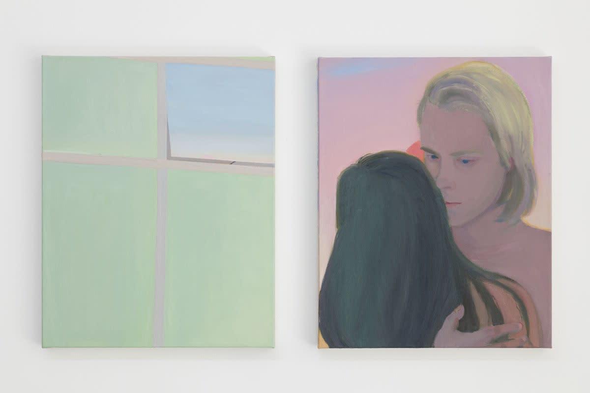 Xinyi Cheng 程心怡   Baby's-breath   2016, oil on linen 亚麻布油彩   50 x 80 cm. Courtesy: the artist 鸣谢:艺术家