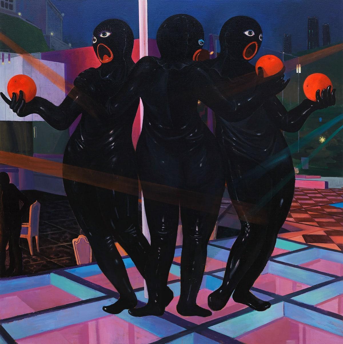 CAI ZEBIN, Revisit, 2019, acrylic on canvas, 215 × 215 cm