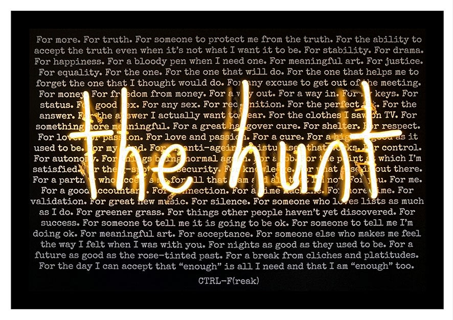 Rebecca Mason , Everybody's Looking For Something (The Hunt) PRINT