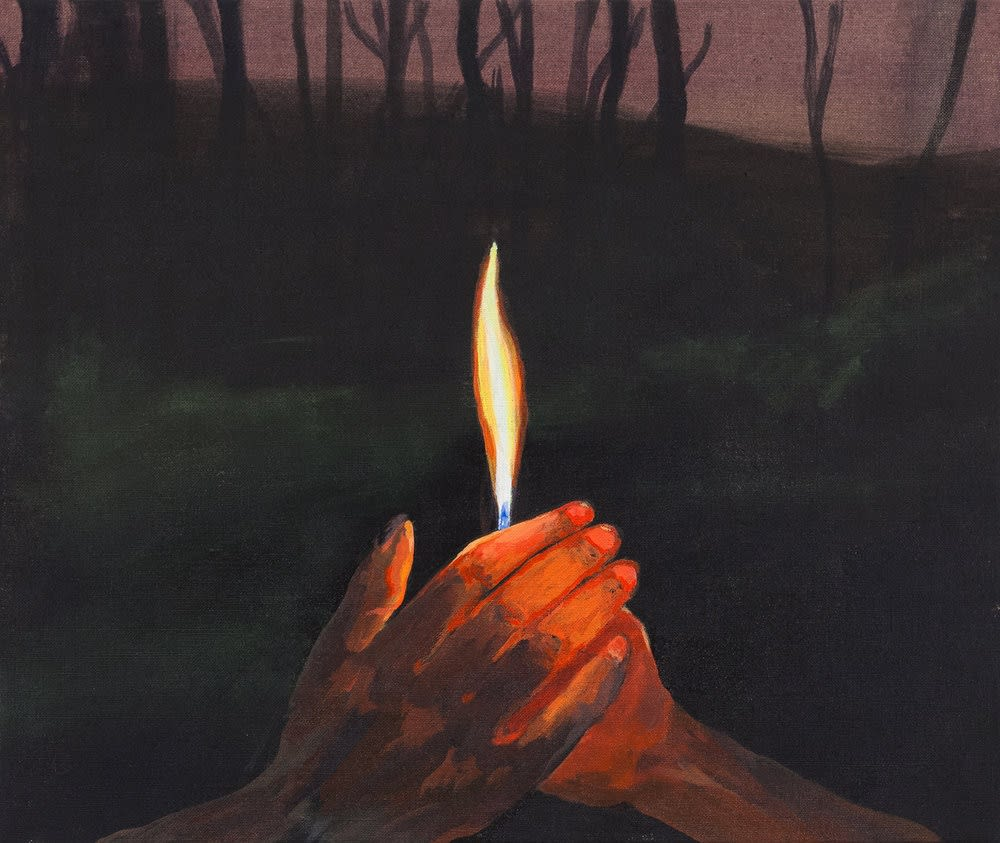 Maggie Ellis Better to Burn Out Than Fade Away, 2017 Oil on linen 16 x 20 inches