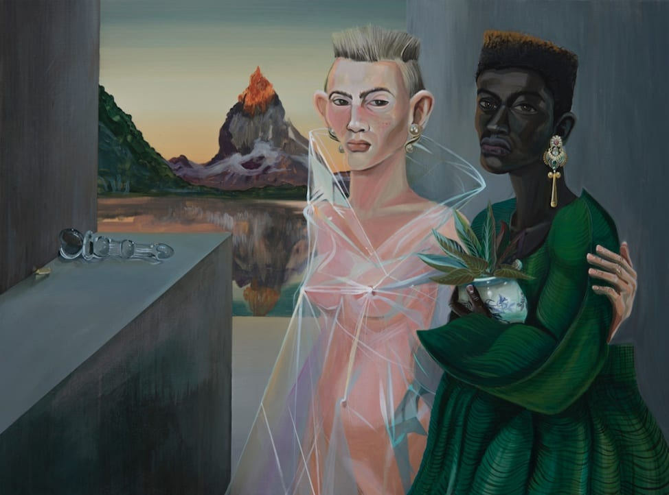 Dalton Gata Couple of Collectors, 2018 Oil on canvas 30 x 40 inches