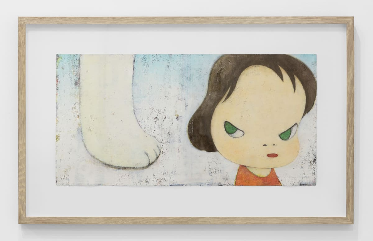 Yoshitomo Nara Lonesome Puppy, 1999 Acrylic and color pencil on paper 10 1/4 x 20 1/4 in (26 x 51.5 cm) © YOSHITOMO NARA