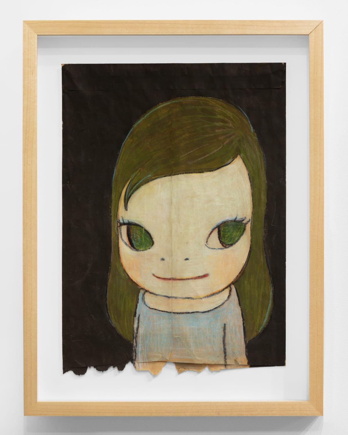 Yoshitomo Nara Untitled, 2006 Color pencil and acrylic on envelope 10 7/8 x 7 3/4 in (27.6 x 17.8 cm) © YOSHITOMO NARA