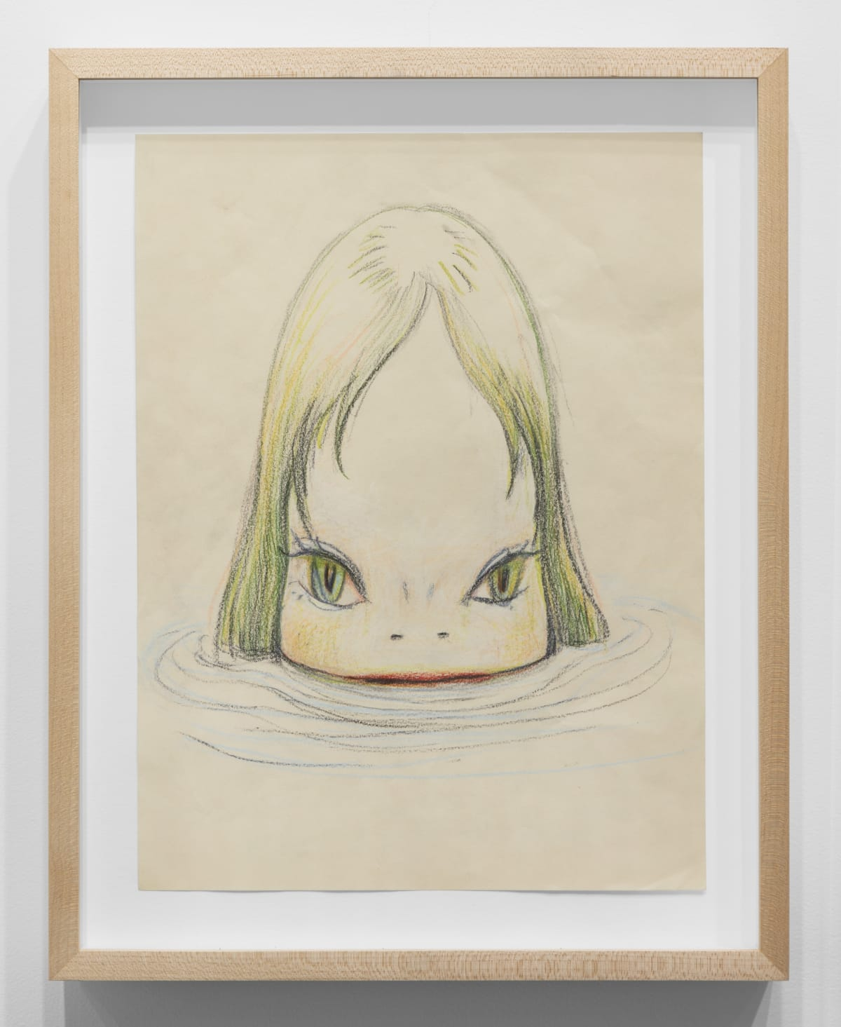 Yoshitomo Nara Untitled, 2006 Color pencil on paper 12 1/2 x 9 1/2 in (31.8 x 24.1 cm) © YOSHITOMO NARA