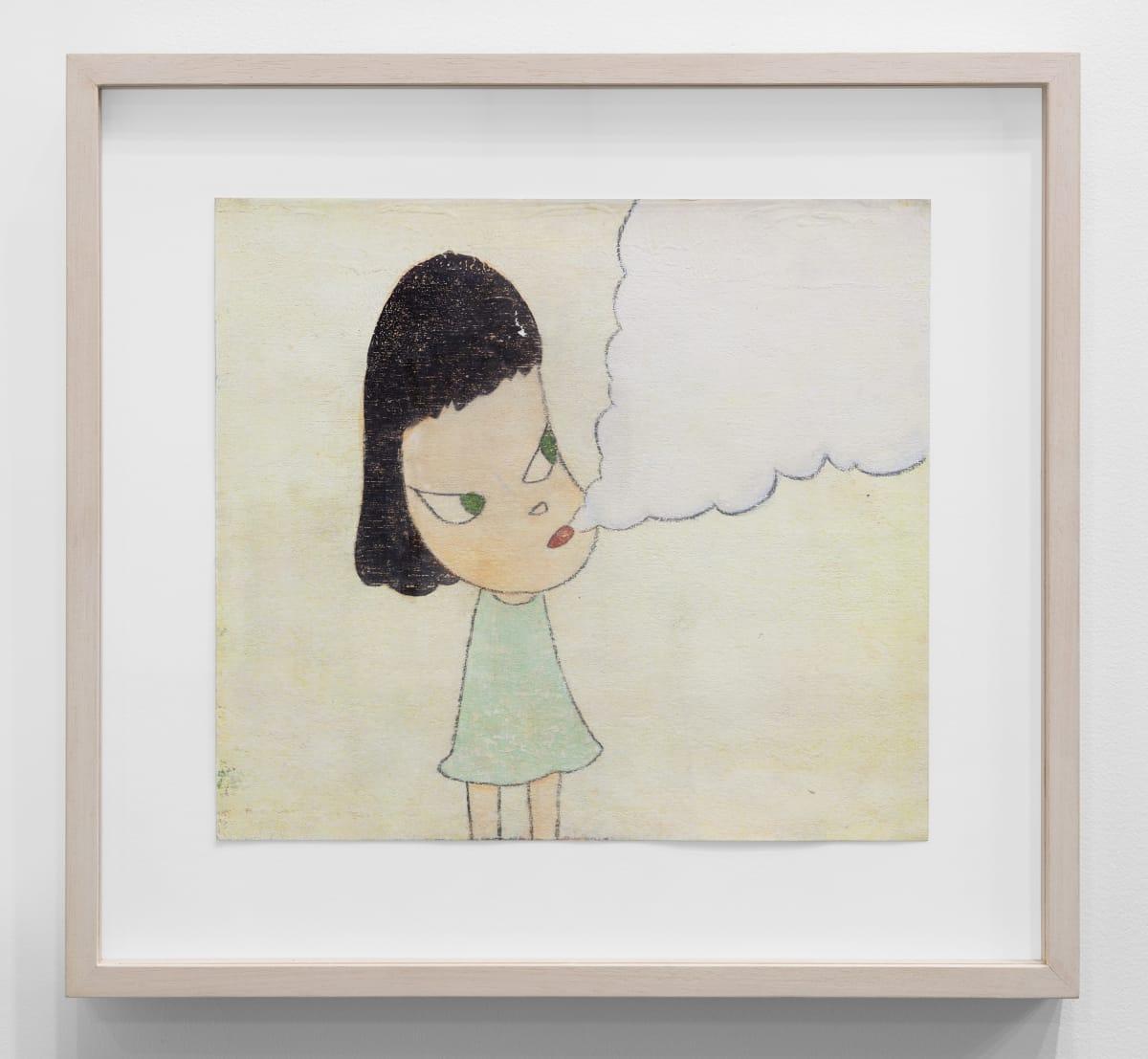 Yoshitomo Nara Hazy Breath, 2001 Acrylic on paper 9 1/4 x 10 1/4 in (23.5 x 26 cm) © YOSHITOMO NARA
