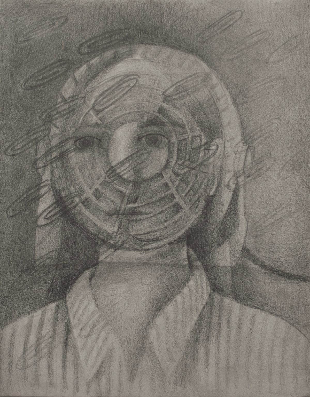 Vanessa Gully Santiago Desk Job, 2018 Graphite on paper 14 x 11 inches