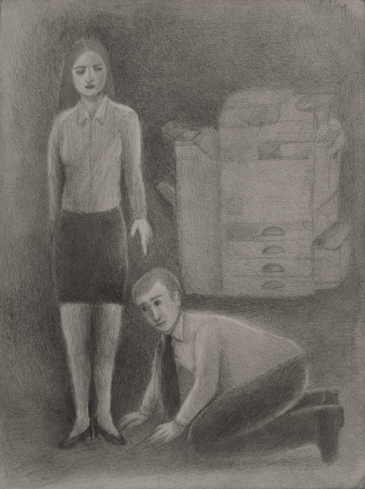 Vanessa Gully Santiago Errand Boy, 2018 Graphite on paper 12 x 9 inches