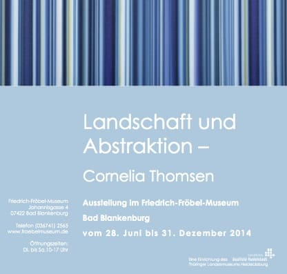 Solo Exhibition in the Friedrich-Froebel Museum, Germany