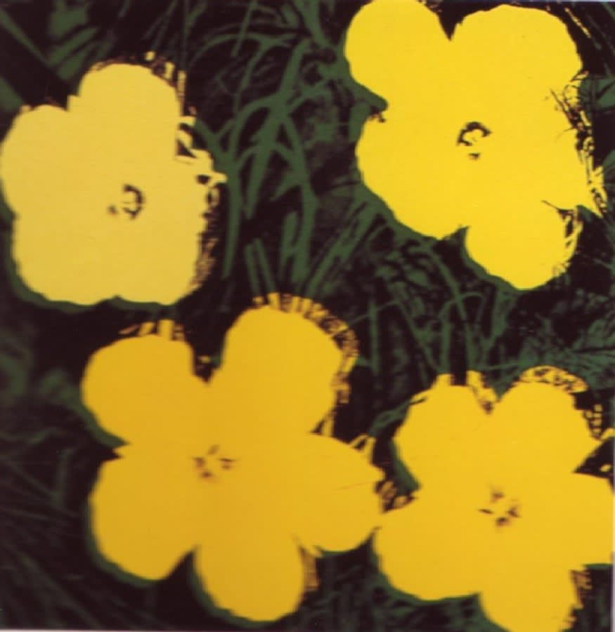 Flower II.72, 1970, by Andy Warhol, from the Portfolio of ten screen prints from an edition of 250, at Coskun Fine Art