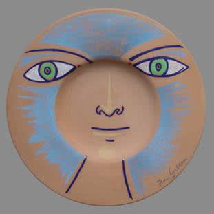 Les Yeux Verts, 1958 by Jean Cocteau, Ceramic from edition of 50, at Coskun Fine Art