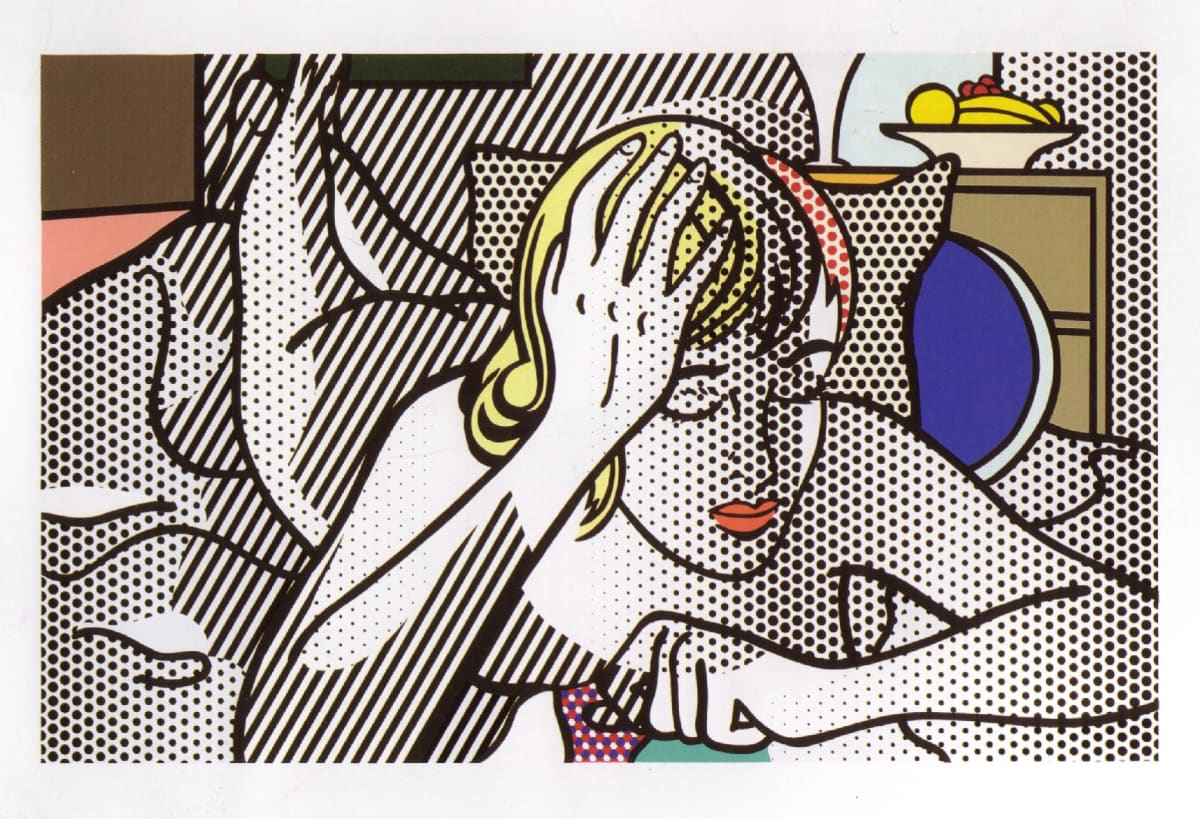 Thinking Nude, 1994, by Roy Lichtenstein, Relief Print from an edition of 40, at Coskun Fine Art