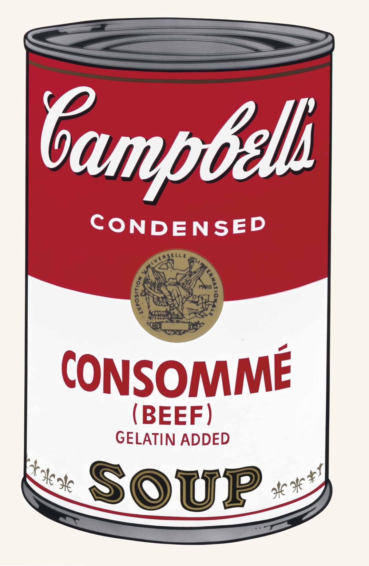 Campbell's I, Consomme (Beef), 1968 by Andy Warhol, Screenprint from an edition of 250 at Coskun Fine Art