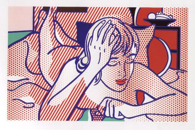 Thinking Nude State I, 1994, by Roy Lichtenstein, Relief Print from an edition of 10, at Coskun Fine Art