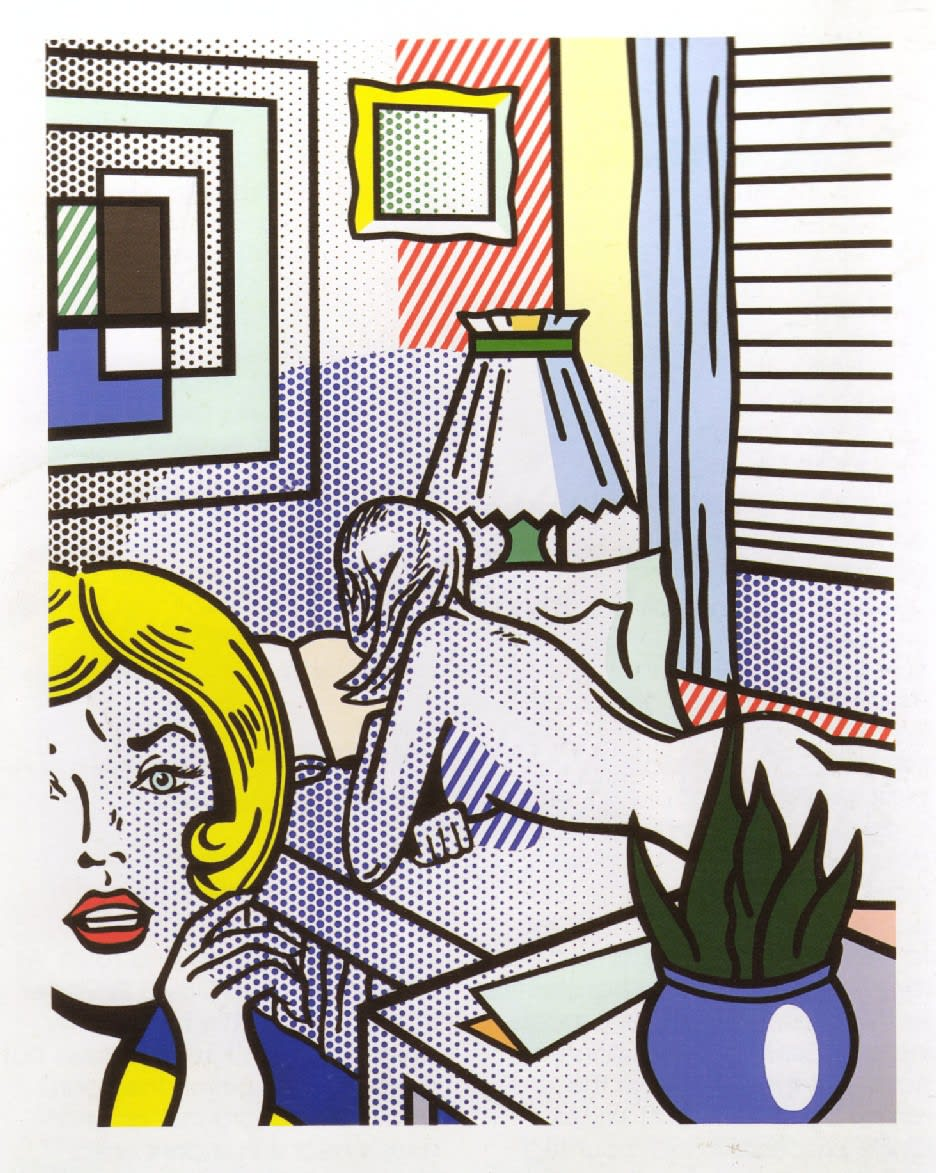 Roommates, 1994, by Roy Lichtenstein, Relief Print from an edition of 40, at Coskun Fine Art