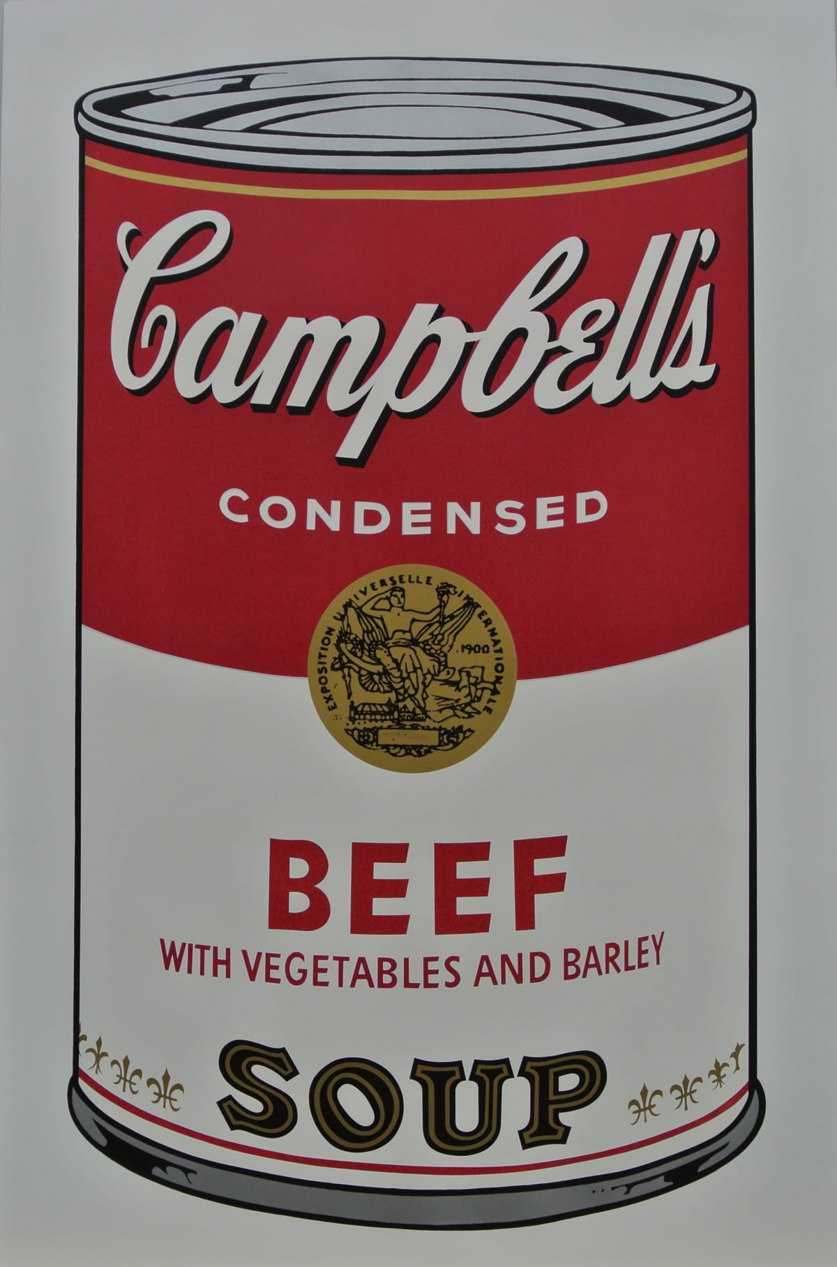 Andy Warhol , Campbell's Soup I: Beef Soup, 1968