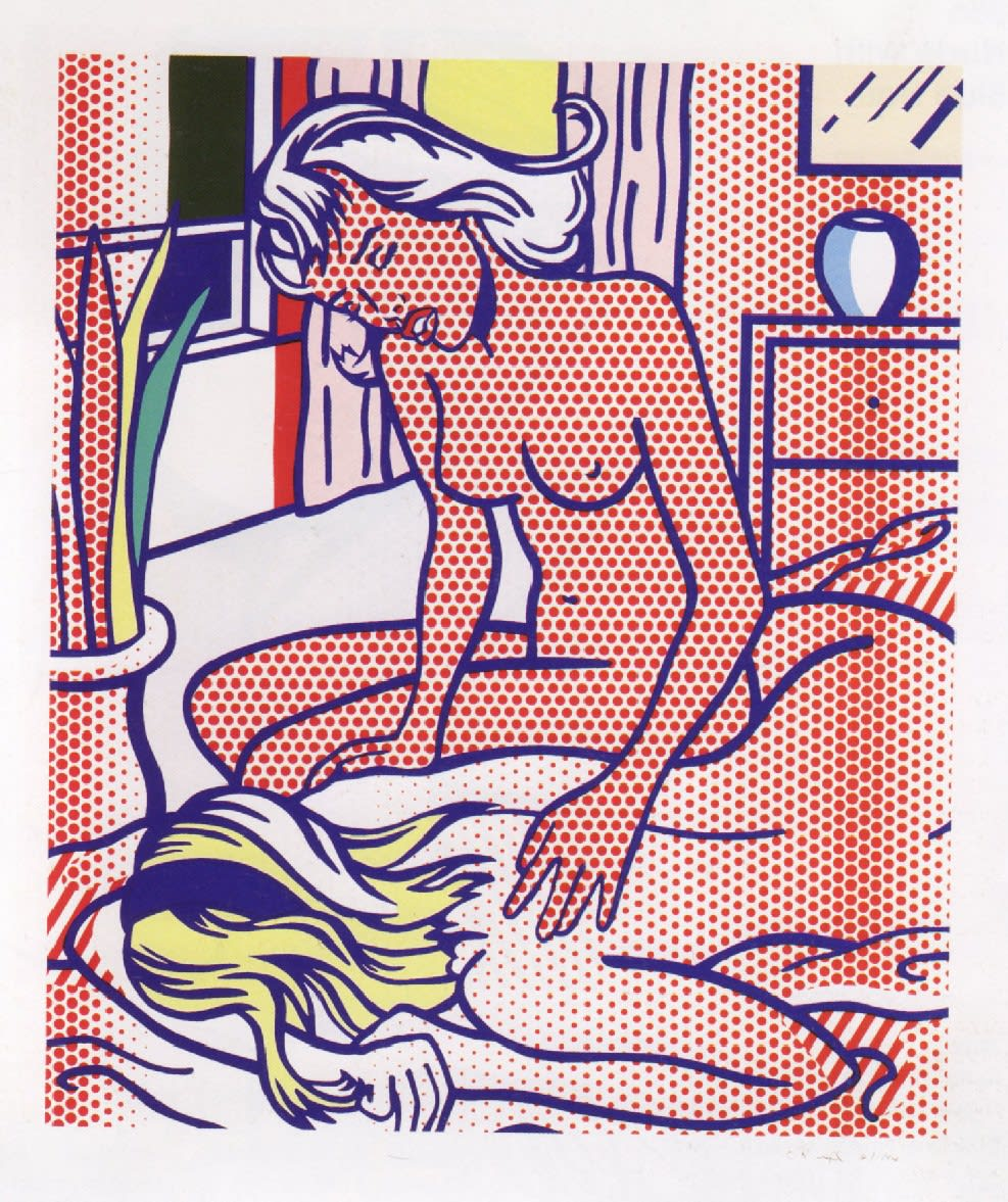 Two Nudes State I, 1994, by Roy Lichtenstein, Relief Print from an edition of 10, at Coskun Fine Art