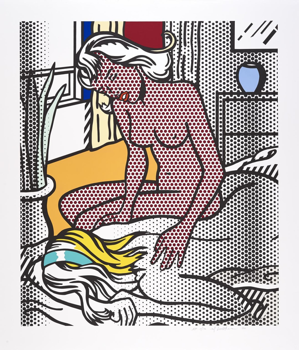 Two Nudes, 1994, by Roy Lichtenstein, Relief Print from an edition of 40, at Coskun Fine Art