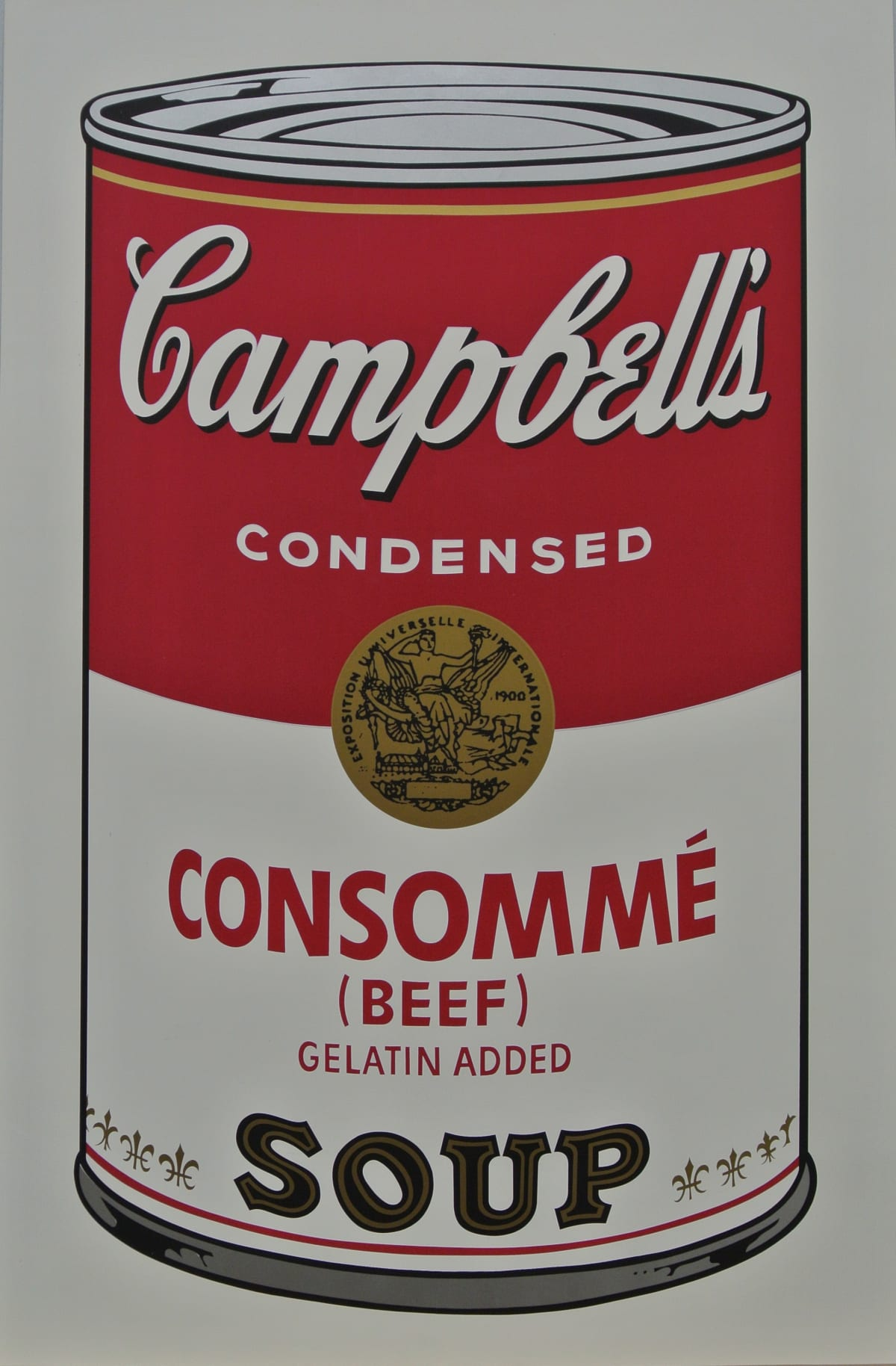Andy Warhol , Campbell's Soup I: Consomme (Beef) Soup, 1968