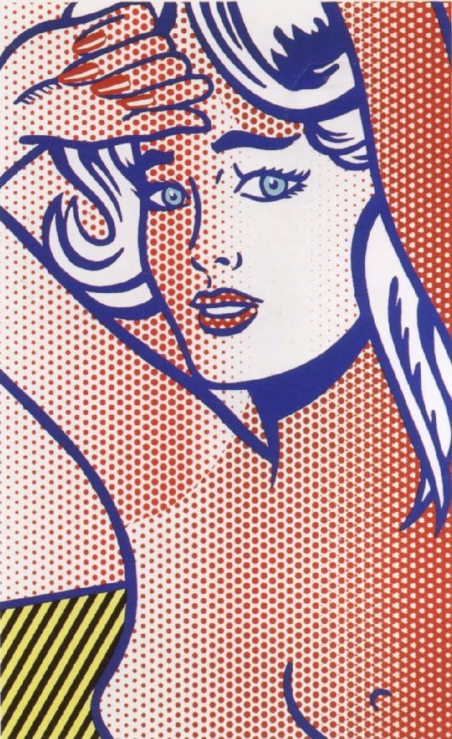 Nude with Blue Hair State I, 1994, by Roy Lichtenstein, Relief Print from an edition of 10, at Coskun Fine Art