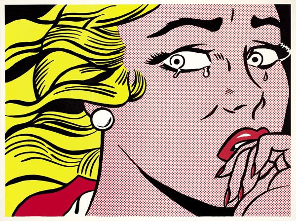 Crying Girl, 1964 by Roy Lichtenstein, Offset Lithograph, at Coskun Fine Art