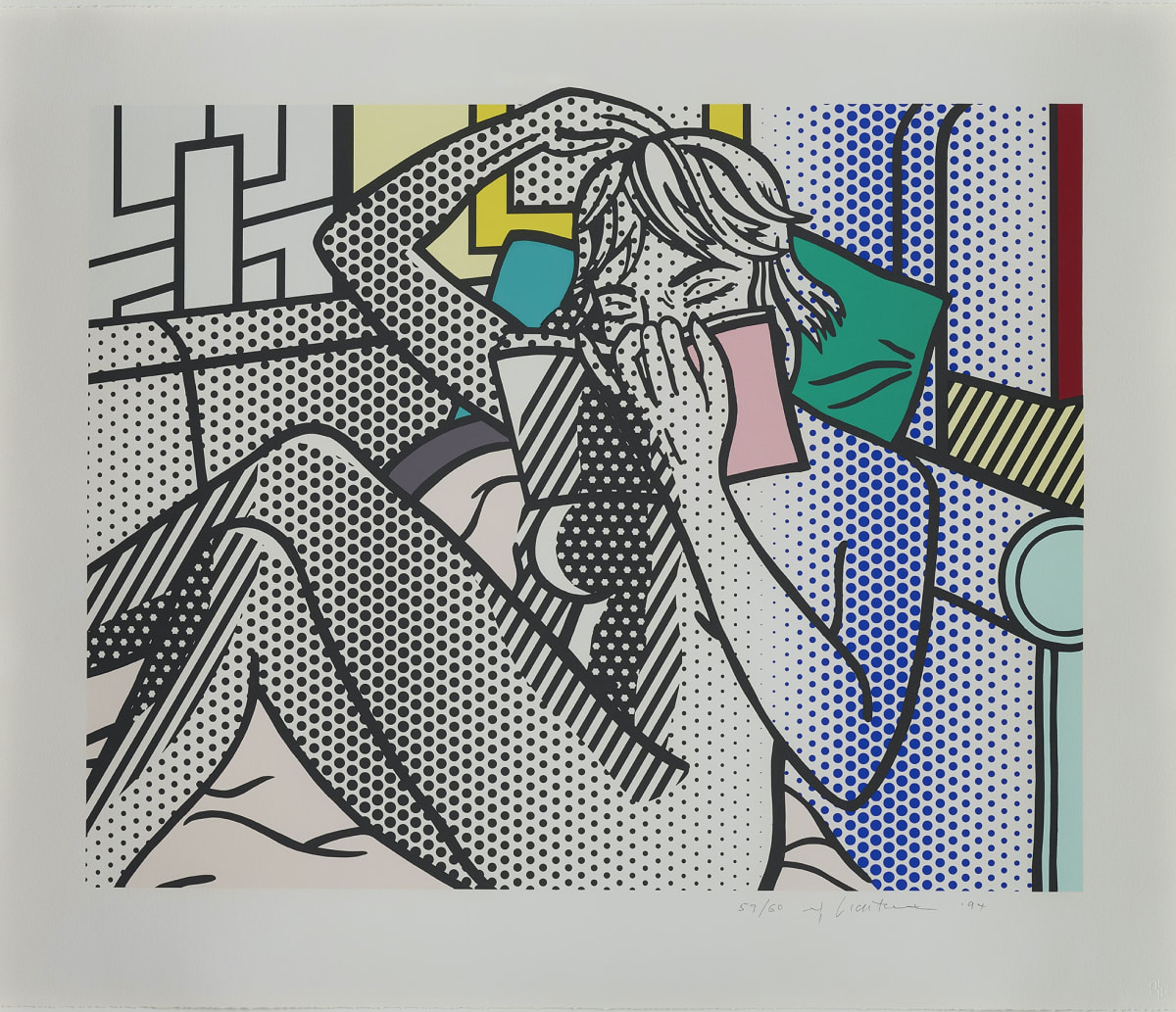 Nude Reading by Roy Lichtenstein, Relief Print from an edition of 60, at Coskun Fine Art, 1994, by Roy Lichtenstein, Relief Print from an edition of 60, at Coskun Fine Art