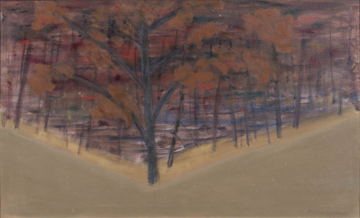 Milton AVERY (1885 – 1965) Autumn, 1955 Oil on canvas 24 x 48 inches / 61 x 122 cm Signed and dated verso