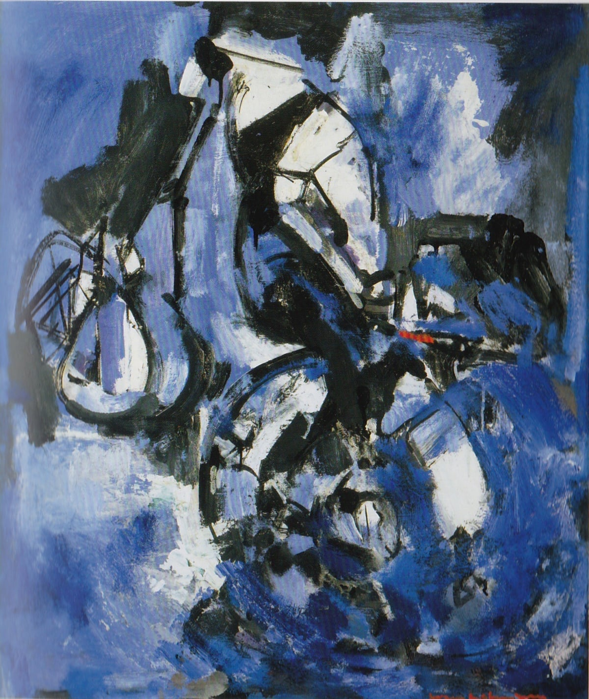 Hans HOFMANN (1880 – 1966) Balance in Black, Blue and White, 1947 Oil on Panel 35 x 30 inches / 88.9 x 76.2 cm Signed lower right Hans Hofmann Painting on verso HH Cat No 519-1947