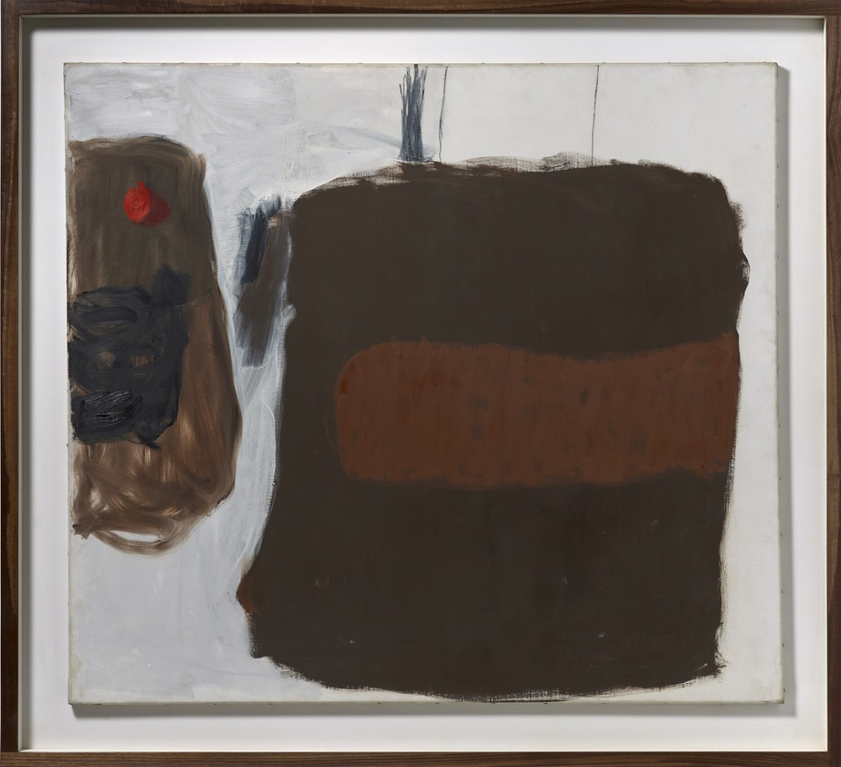 Roger HILTON (1911-1975) Untitled, 1962 Oil on canvas 44 x 50 inches / 111.8 x 127 cm Signed 'Hilton' and dated 'Oct, 62' verso