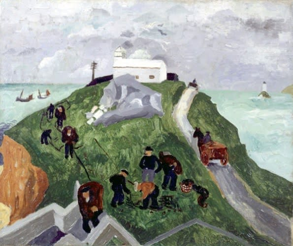 Christopher WOOD (1901 1930) St Ives, 1928 (Flowers in a Glass Jar verso) Oil on canvas 16 x 18 inches / 40.6 x 45.7 cm