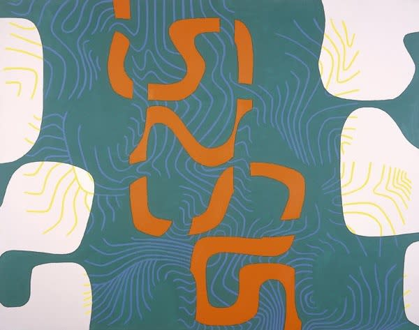 Bryan WYNTER (1915 – 1975) Meander II, 1967 oil on canvas signed, titled & dated verso 66 x 84 inches / 167.5 x 213.5 cm