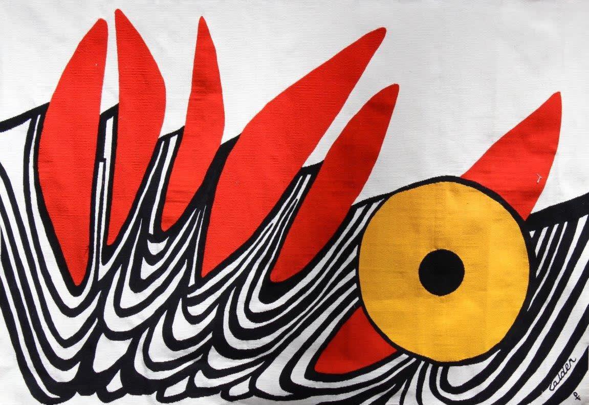 Alexander CALDER (1898-1976) Six Dents Rouges, c.1970