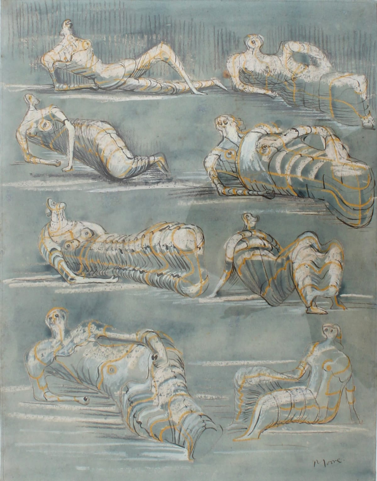 Henry MOORE (1898 – 1986) Draped Reclining Figures, 1948