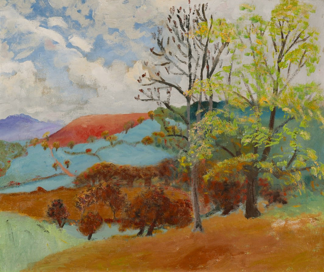 Winifred NICHOLSON (1893-1981) Landscape with Red Mountain,c.1935