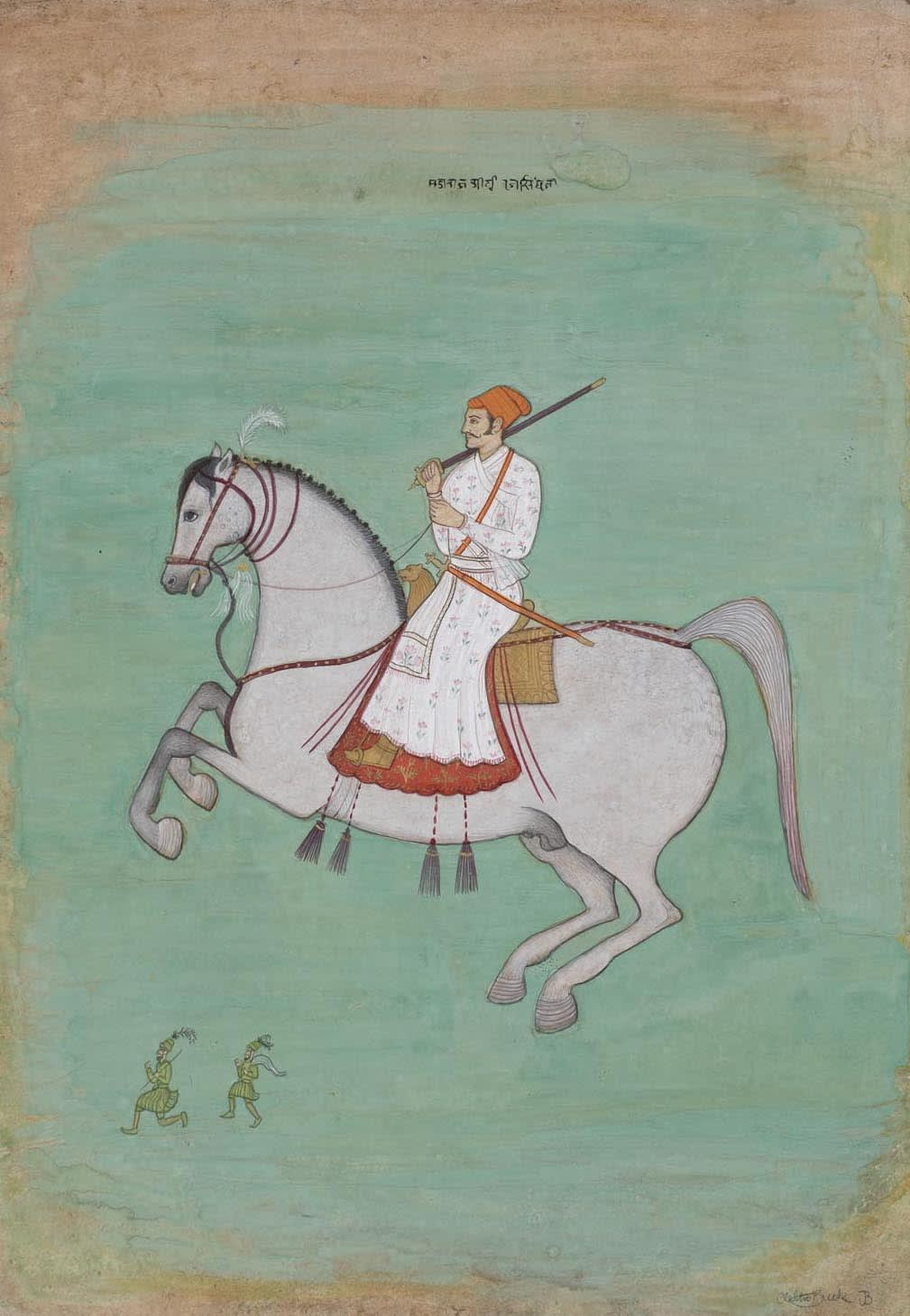 Jethro BUCK (b.1986) Maharaja on a Horse, (Copy of Maharaja Dhiraj Sing riding a Horse), 2019