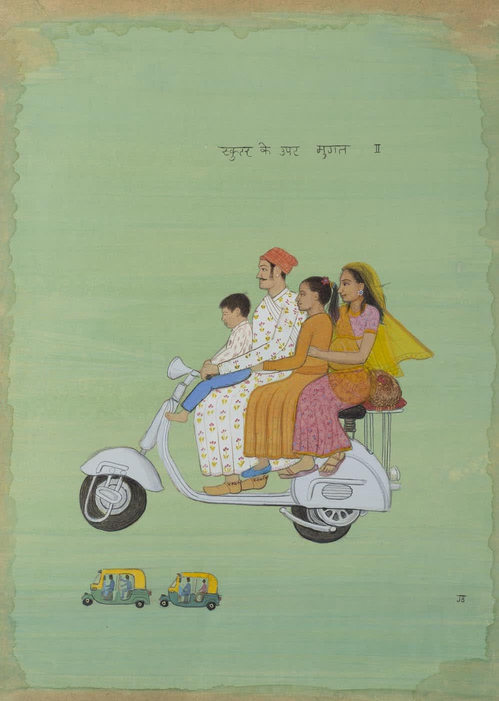Jethro BUCK (b.1986) Mughals on a Vespa, 2019 SOLD