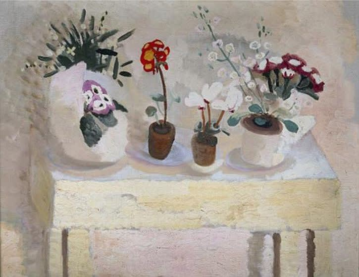 Winifred NICHOLSON (1893 – 1981) Flower Table; Pots, c.1927 Oil on canvas 25 5/8 x 33 ½ inches / 65 x 85.1 cm
