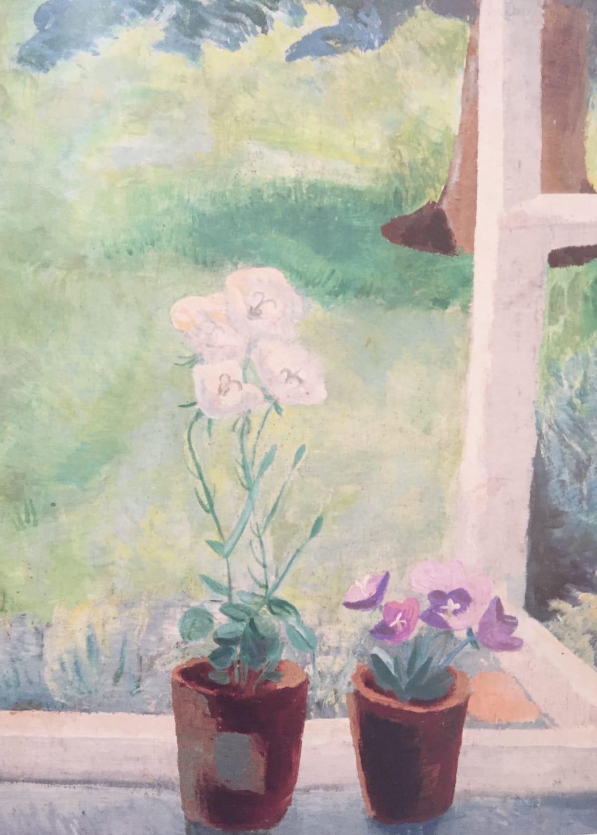 Winifred NICHOLSON (1893 – 1981) Campanulas, c.1935 Oil on board 20 x 15 ¾ inches / 50.8 x 40 cm
