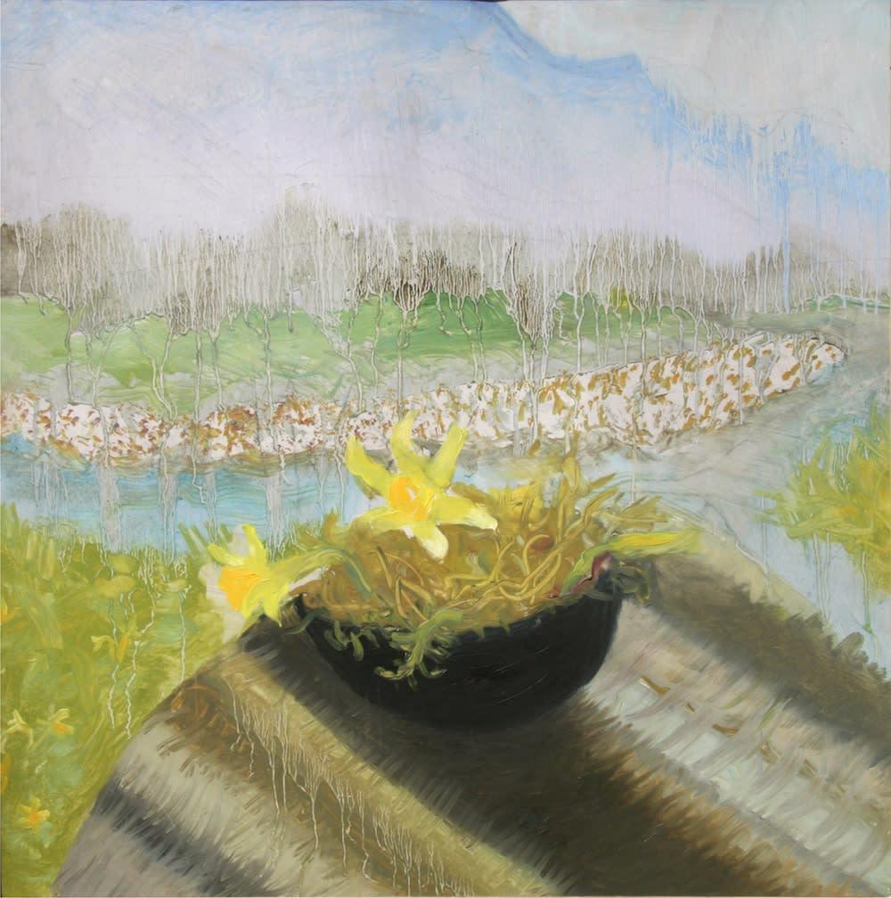 Winifred NICHOLSON (1893-1981) Duddon Valley, 1974 Oil on canvas 19 ½ x 19 ½ inches / 49.5 x 49.5cm