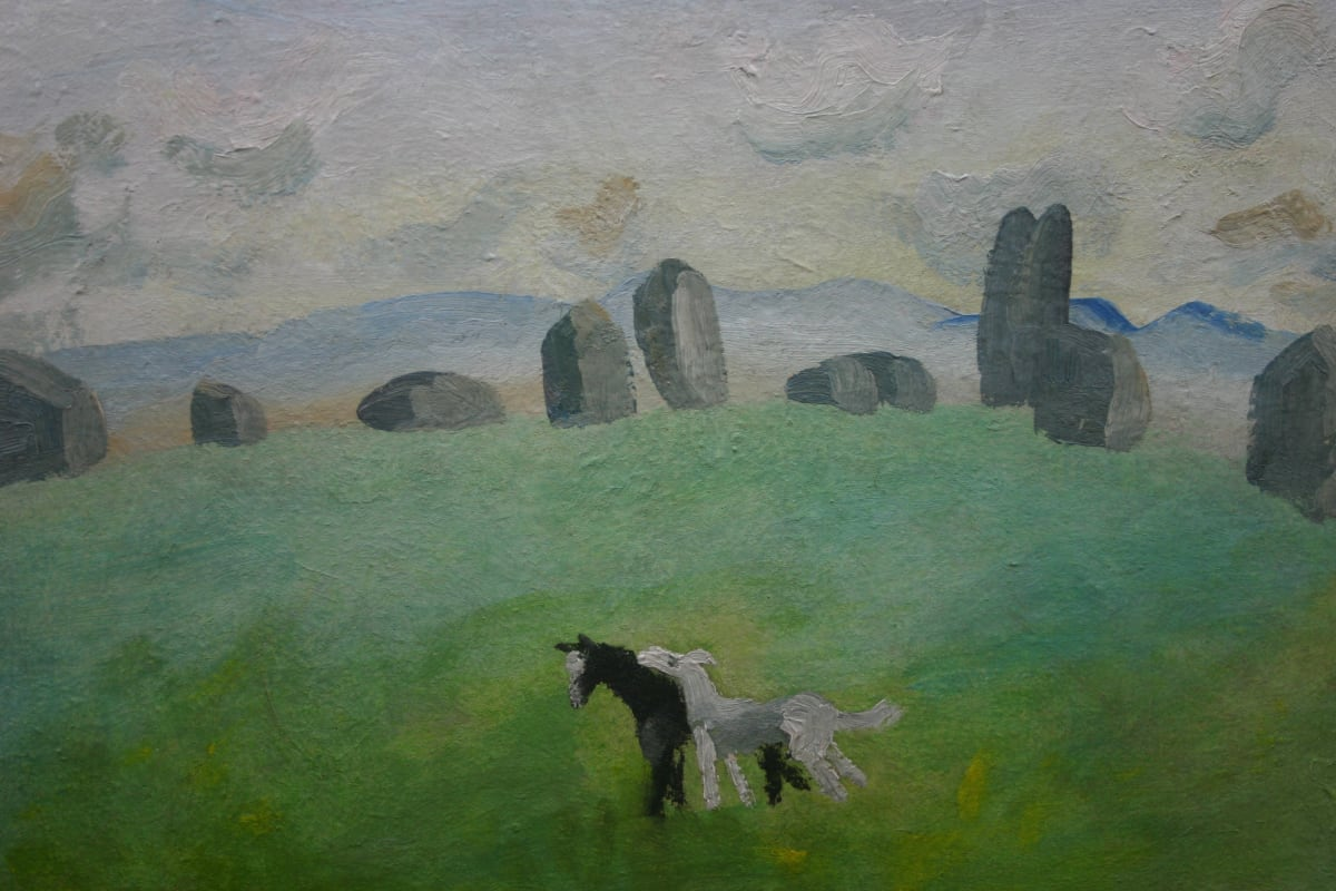 Winifred NICHOLSON (1893-1981) Long Meg and Daughters c. 1948-50 Oil on canvas 18 x 24 inches / 45.7 x 61cm