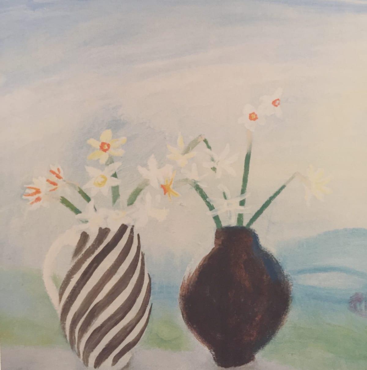 Winifred NICHOLSON (1893 – 1981) Narcissi, 1979 Oil on board 24 x 24 inches / 61 x 61 cm