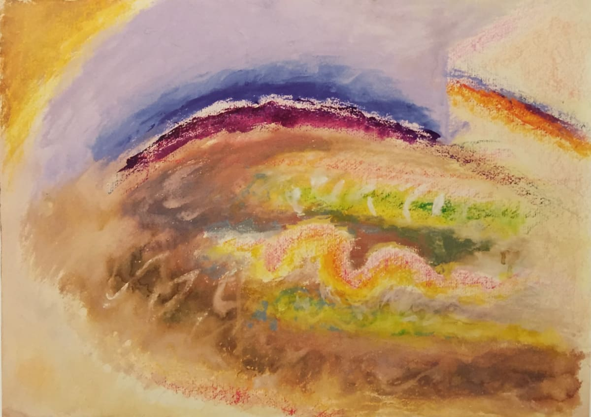 Winifred NICHOLSON (1893 – 1981) Rainbow with Movement, late 1970's Mixed media on paper 23 ½ x 30 ¾ inches / 56 x 78 cm