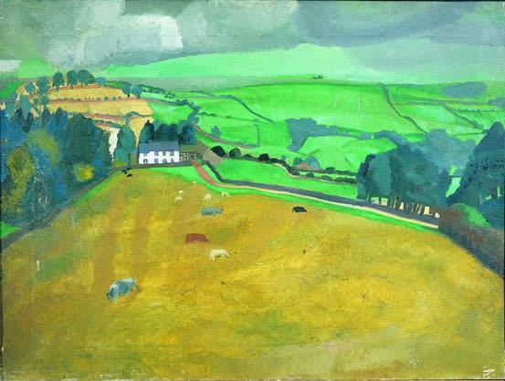 Winifred NICHOLSON (1893 - 1981) The Swaites, 1922 Oil on canvas 22 x 28 3/8 inches / 56 x 72 cm Inscribed verso Swaites 1922, Winifred Nicholson, 10 Holland Park, London