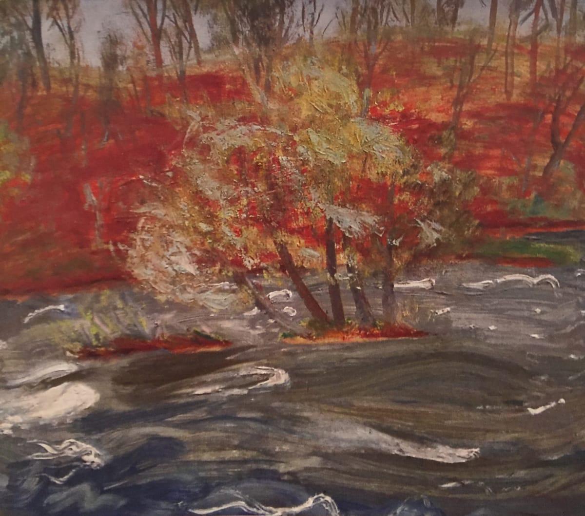 Winifred NICHOLSON (1893 – 1981) The River Eden, 1959 Oil on board 22 ½ x 3/8 inches / 57 x 67 cm