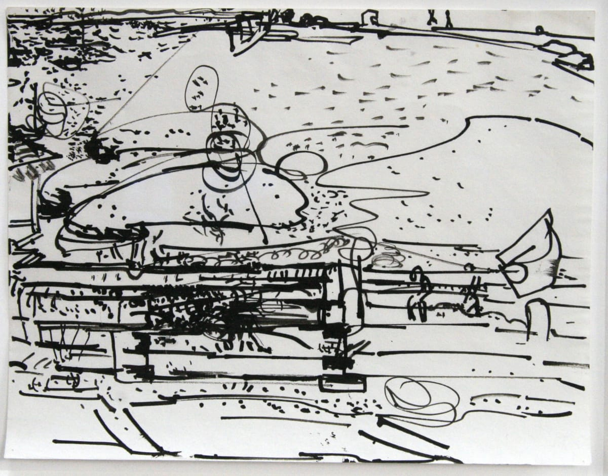 Hans HOFMANN (1880-1966) Untitled, c. 1939 India ink on paper 11 x 8 ½ inches / 27.9 x 21.6 cm